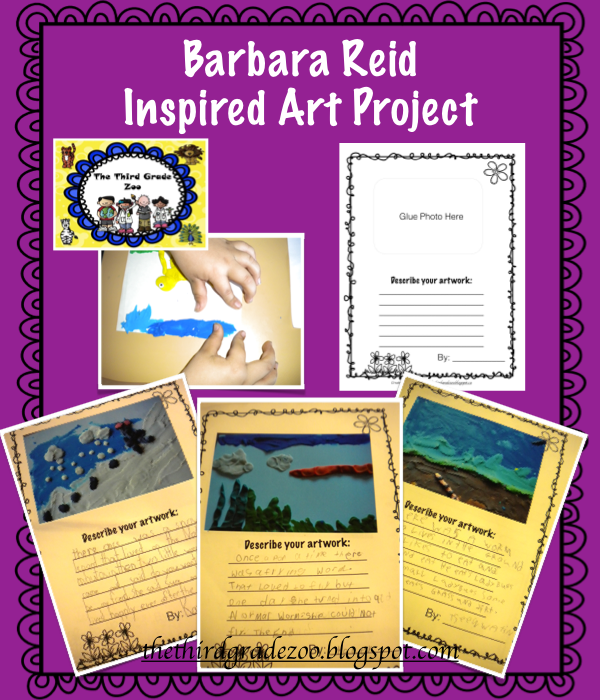 Freebie! Check out this fabulous Barbara Reid inspired art project from thethirdgradezoo.blogspot.com