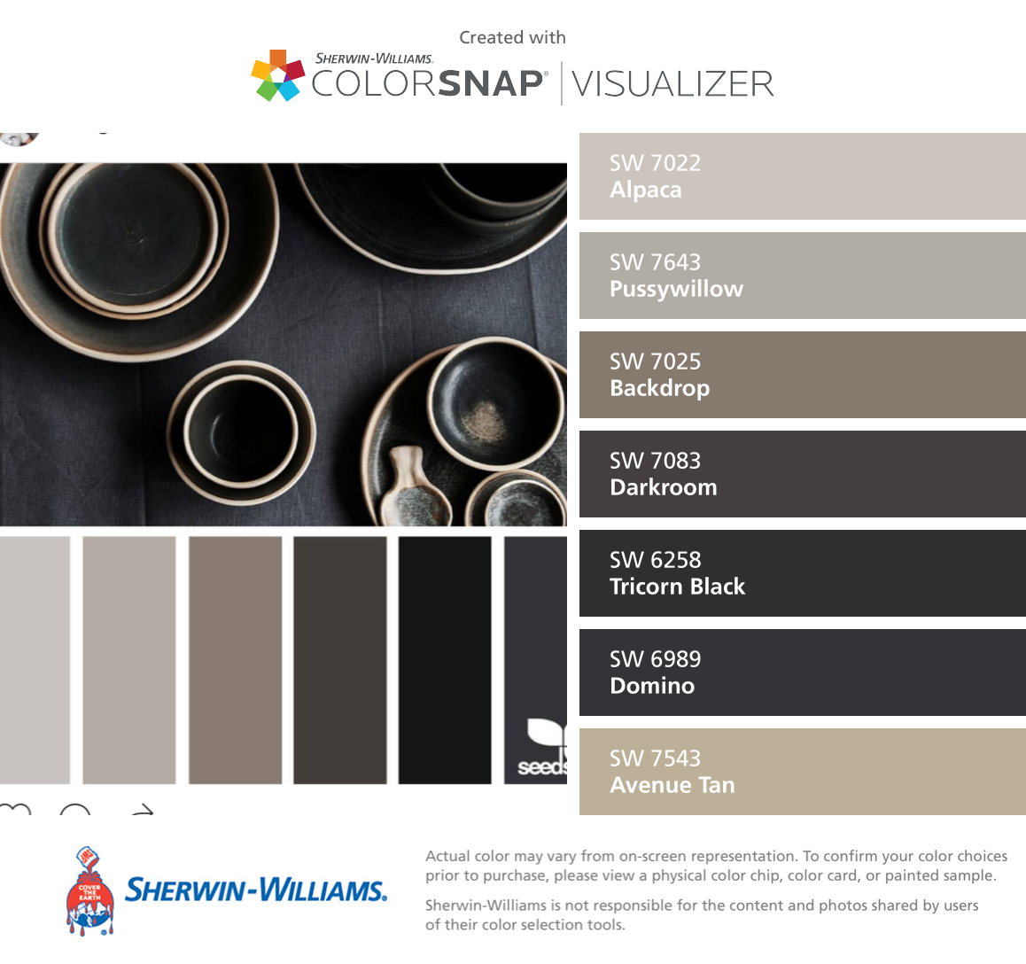 Sherwin williams paint colors sherwin williams 6249 storm cloud - I Found These Colors With Colorsnap Visualizer For Iphone By Sherwin Williams Alpaca