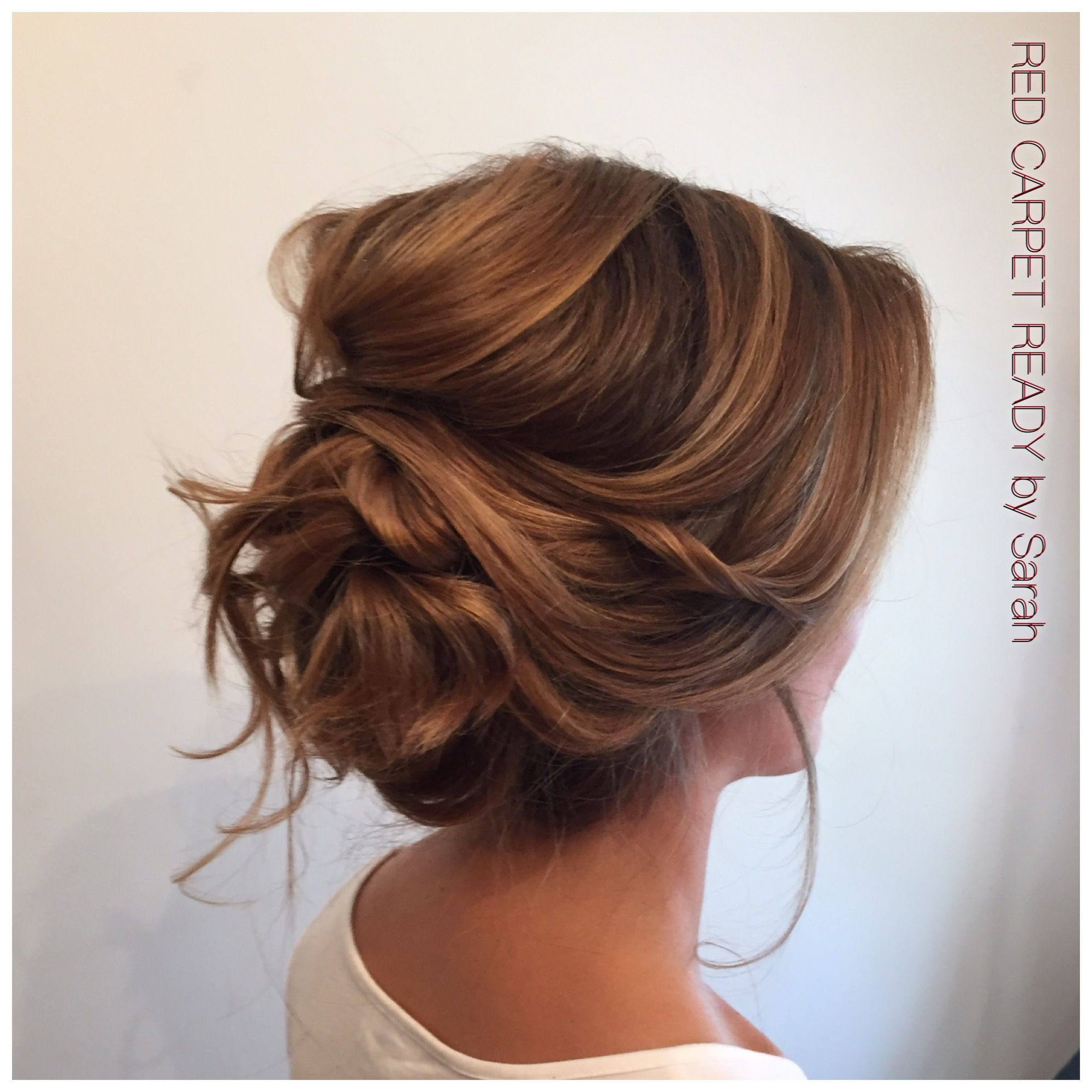 Wedding Party Hairstyle For Thin Hair: Soft Low Voluminous Updo Hair By Me