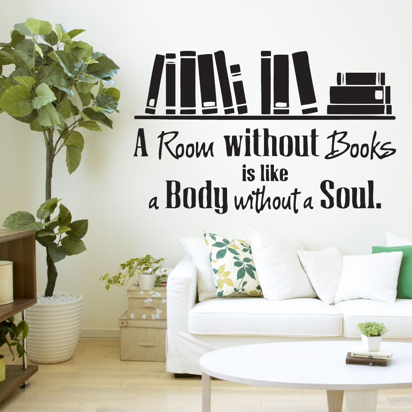 A Room Without Books Quote Library Wall Sticker Decal Vinyl Wall Art Transfer Library Wall Vinyl Wall Art Vinyl Wall Decals