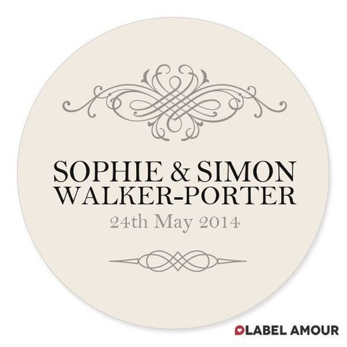 Personalised wedding favour sticker seals labels 4 sizes