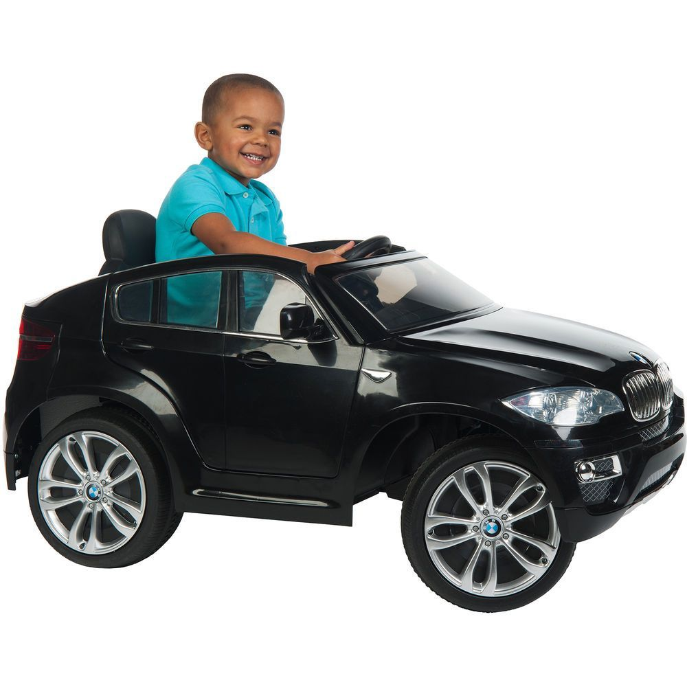 Car For Kids Ride On Electric Battery Operated Black Bmw X6 Toddler