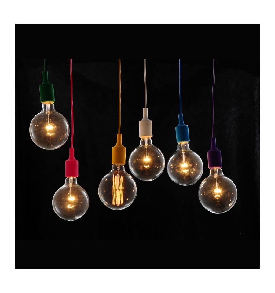 Suspension simple orange fluo ampoule filament