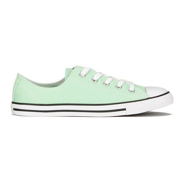 19ad35461d333e Converse Women s Chuck Taylor All Star Dainty OX Trainers - Mint Julep  ( 36) ❤