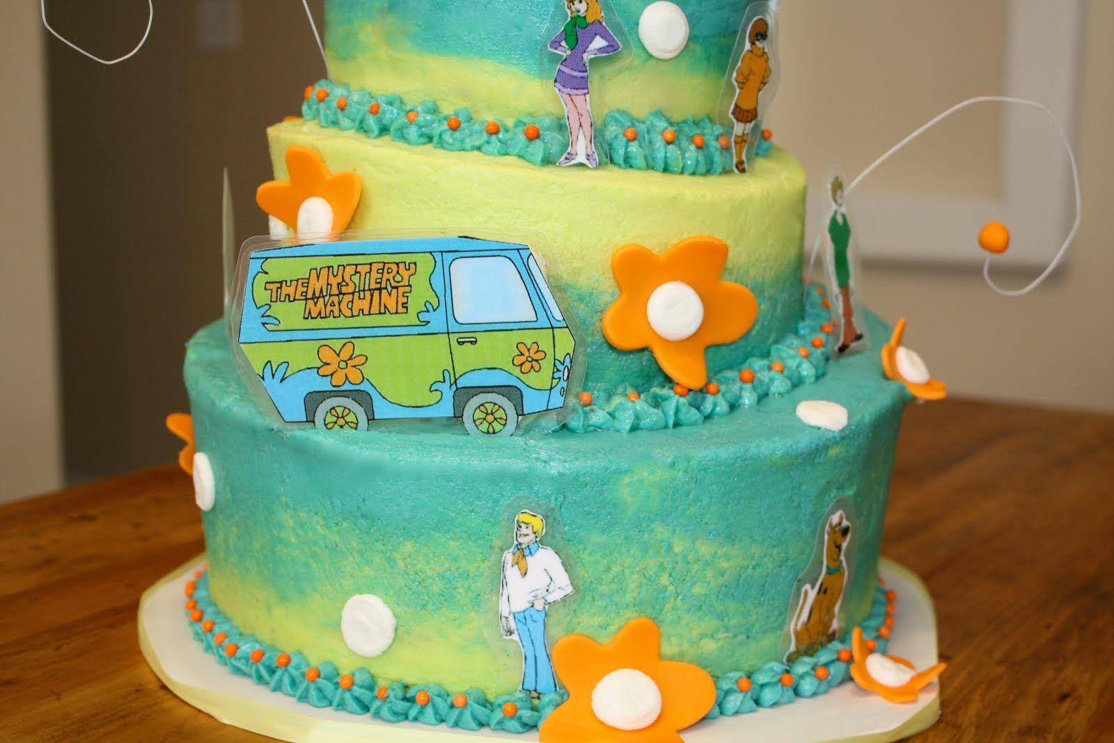 Marvelous Scooby Doo Birthday Cakes Bumble Cakes Scooby Doo Cake With Funny Birthday Cards Online Inifofree Goldxyz