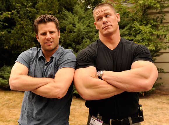 Behind the Scenes: James Roday & John Cena compare guns