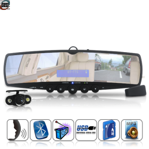 Car Rearview Mirror With Wireless Parking Camera (Bluetooth, MP3, FM Transmitter)