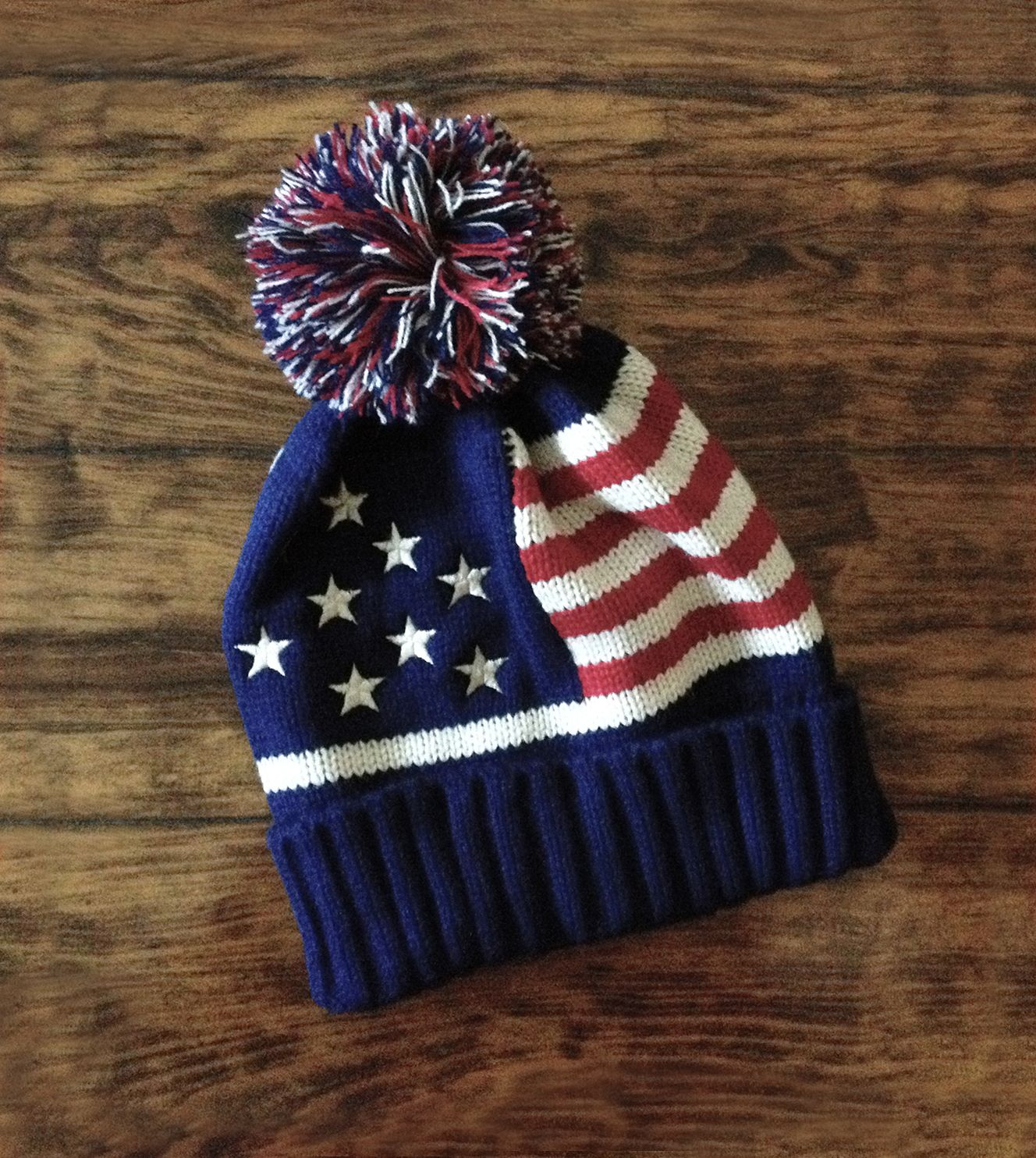 a15169bfeeb Add just the right amount of throwback cool to your winter outfit with this  retro stars and stripes beanie. American flag