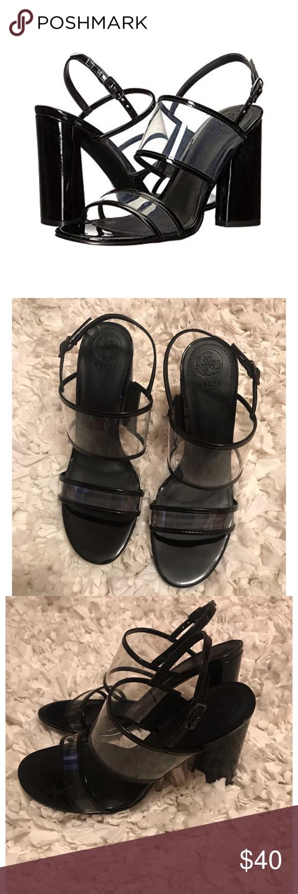 NEW Guess Amidala Heels * Manmade upper materials