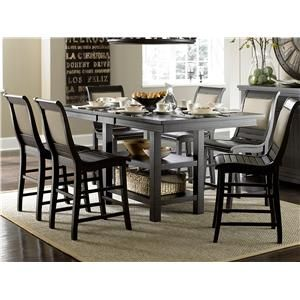 Progressive Furniture Willow Dining 5Piece Rectcounter Height Mesmerizing Willow Dining Room Design Ideas