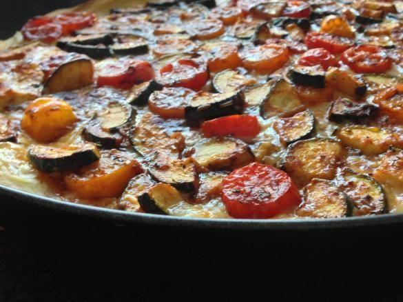 Mediterrane Tomate-Zucchini-Quiche