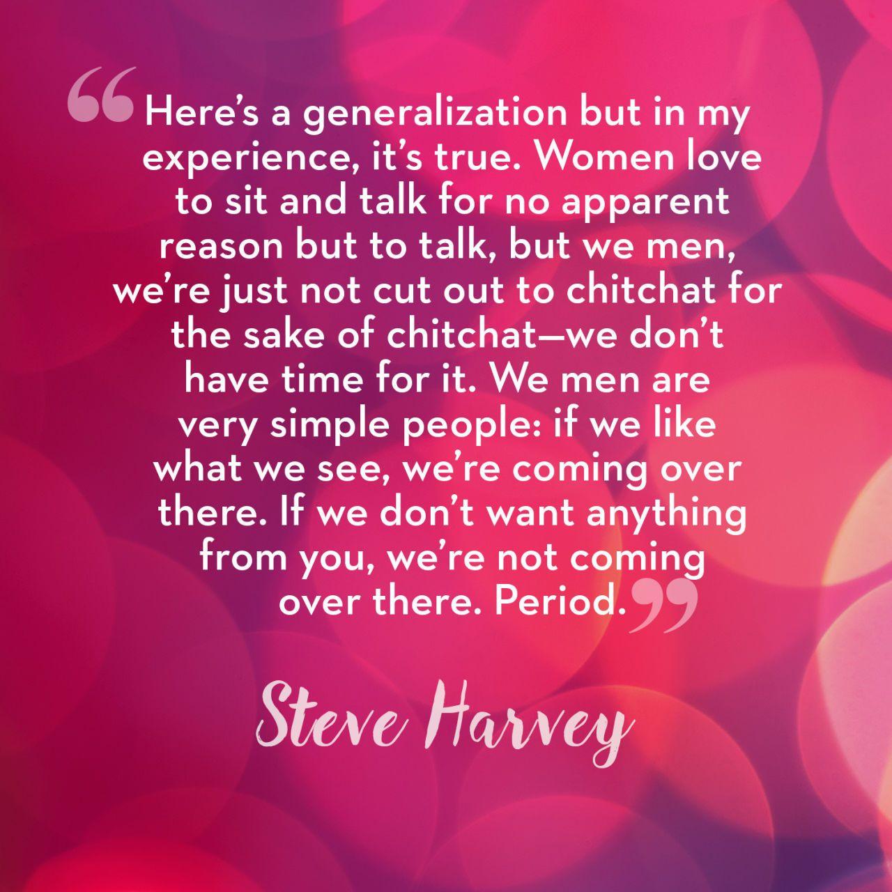 Steve harvey dating tips