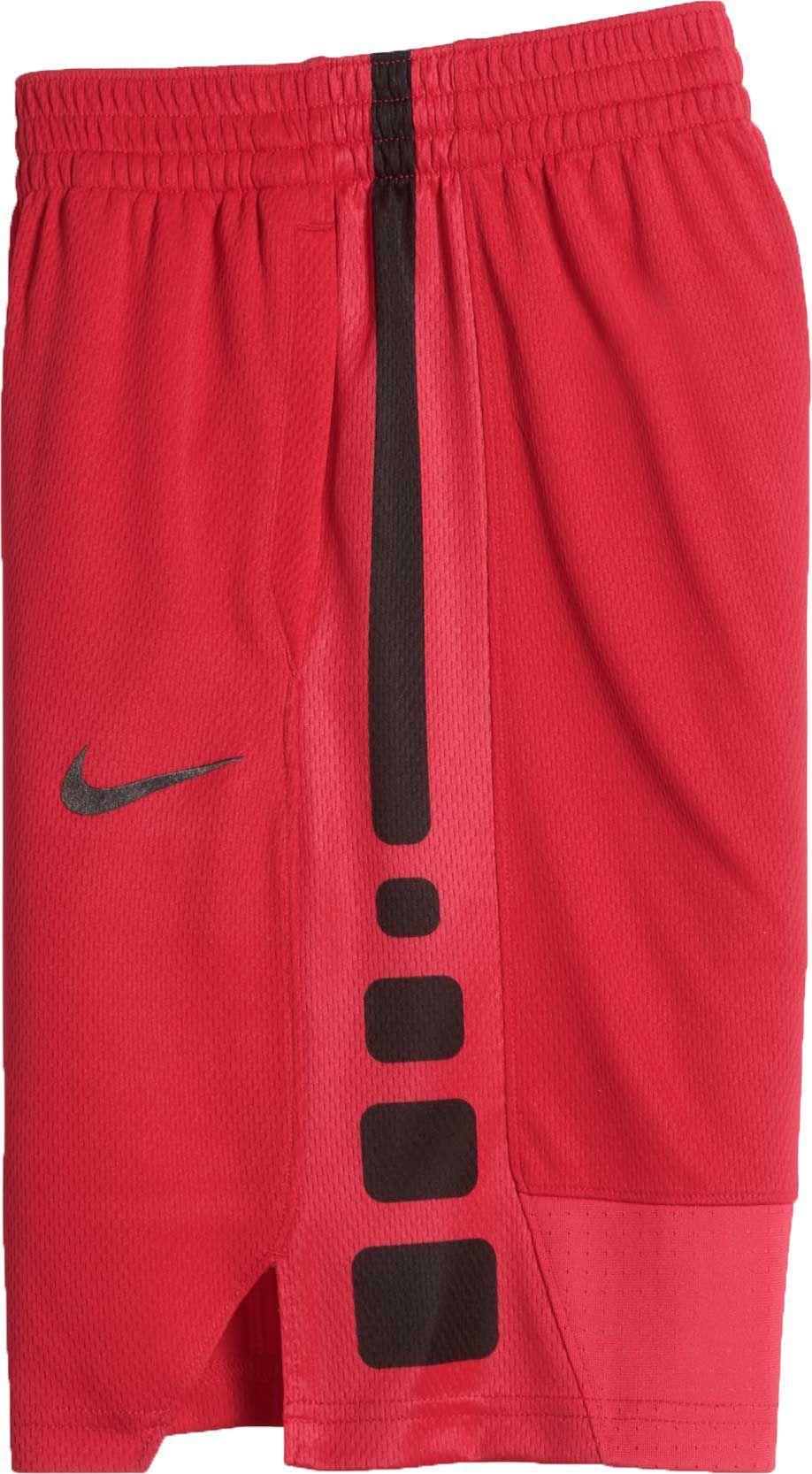 Nike Boys Dry Elite Stripe Basketball Shorts Size Large Red Basketball Shorts Basketball T Shirt Designs Gym Shorts Womens