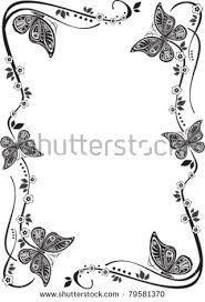 Butterfly Border Black And White Ile Ilgili Görsel Sonucu
