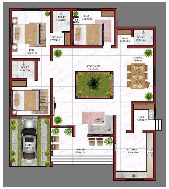 Pin On Pinterest Village house floor plan