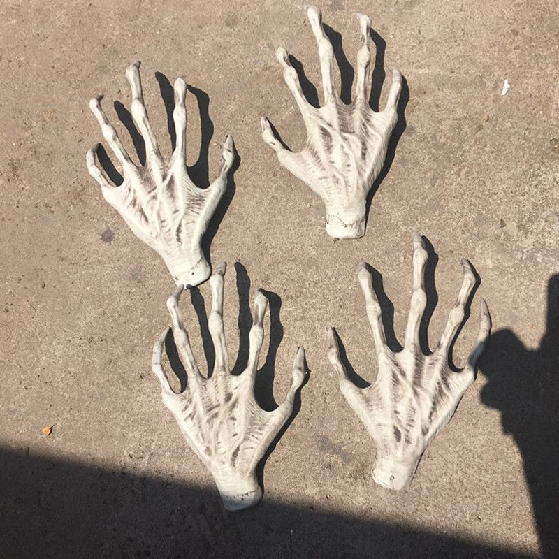 1 Pair Halloween Plastic Skeleton Hands Witch Hands