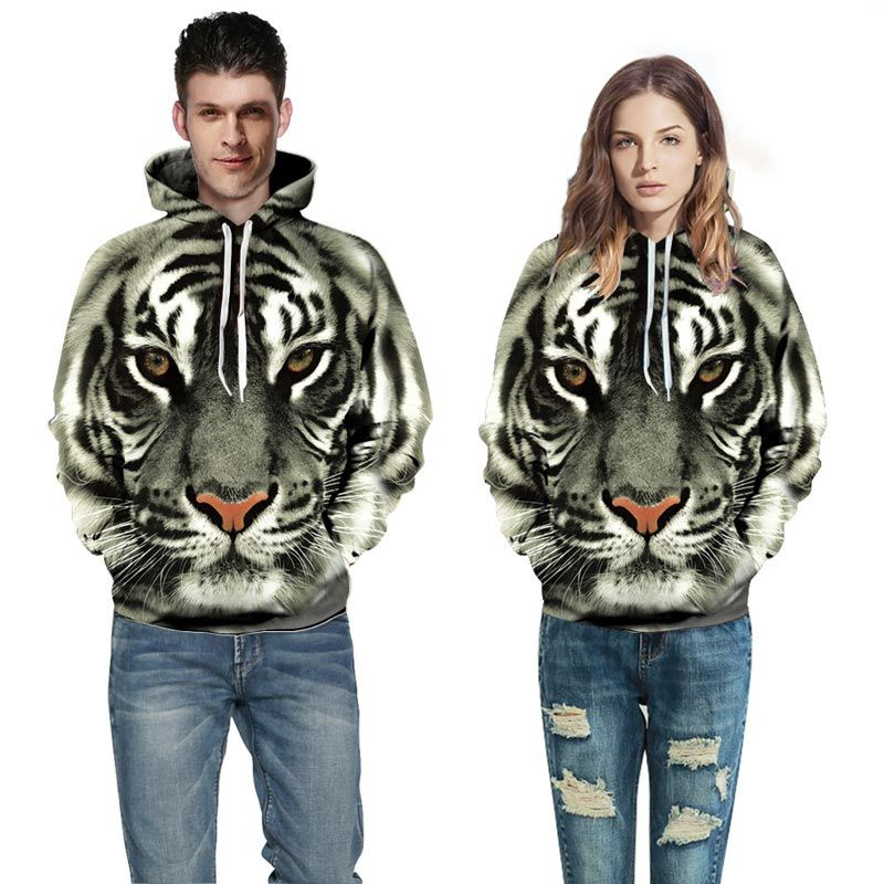 >> Click to Buy << New Stylish Fashion Sweatshirts Men Women Hooded Hoodies 3d Print Tiger Unisex Pullovers Hoody Outerwear Plus size S-6XL R309 #Affiliate