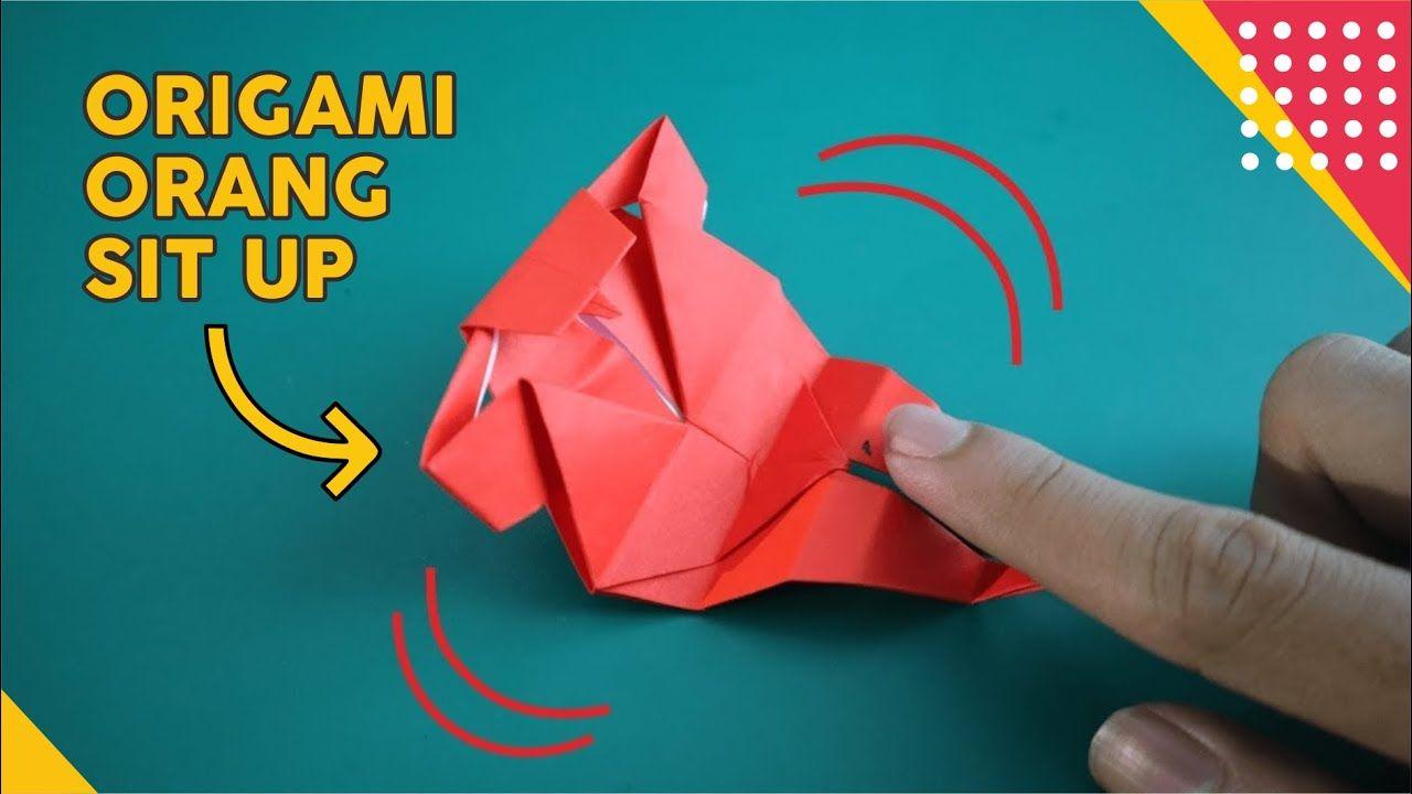 Cara Membuat Orang Sit Up Origami Lucu Bisa Gerak Gerak How To Fold M Origami Lucu Gerak