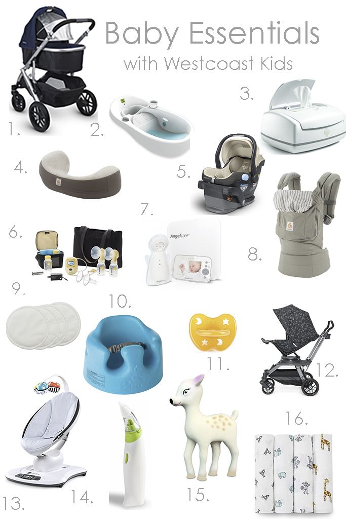 infant items that begin with the