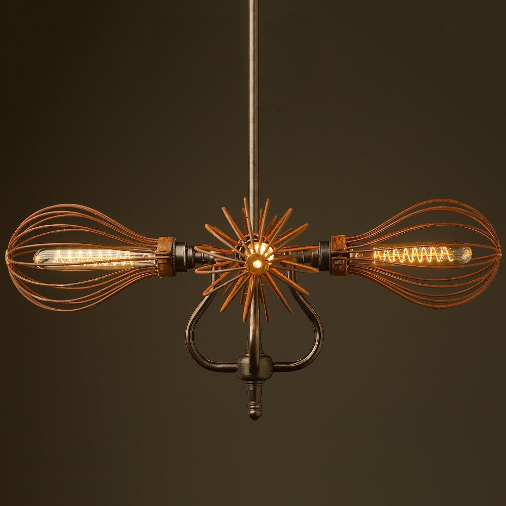4 Bulb Cage Coventry Bend Hub Chandelier Decoration