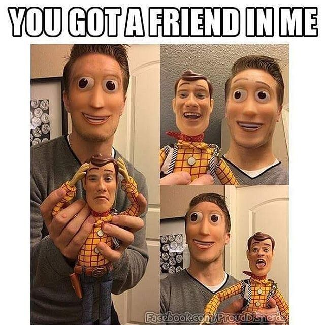okay thats creepy like the woody on the humans face looks