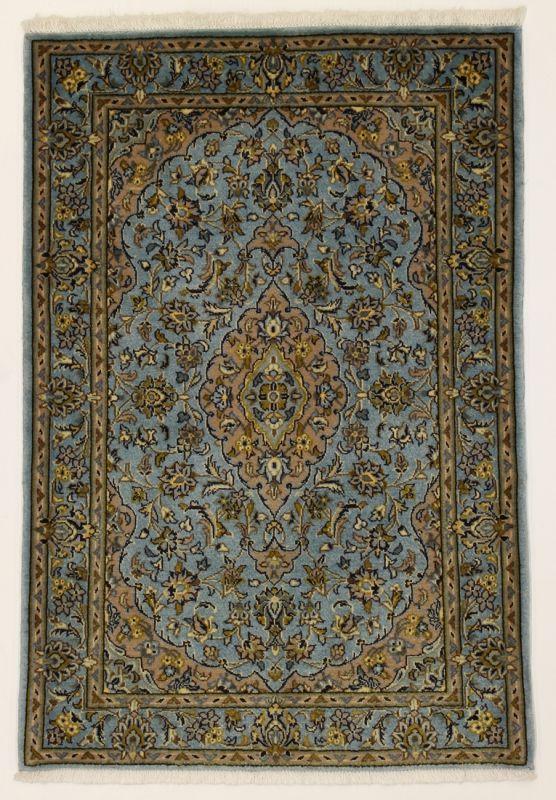 Perserteppich blau  Perserteppich Kashan blau (80x116cm) | Lionel Kashan rugs ...