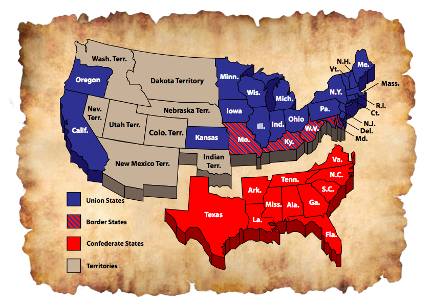 The United States During the Civil War | Union, Confederate and ...