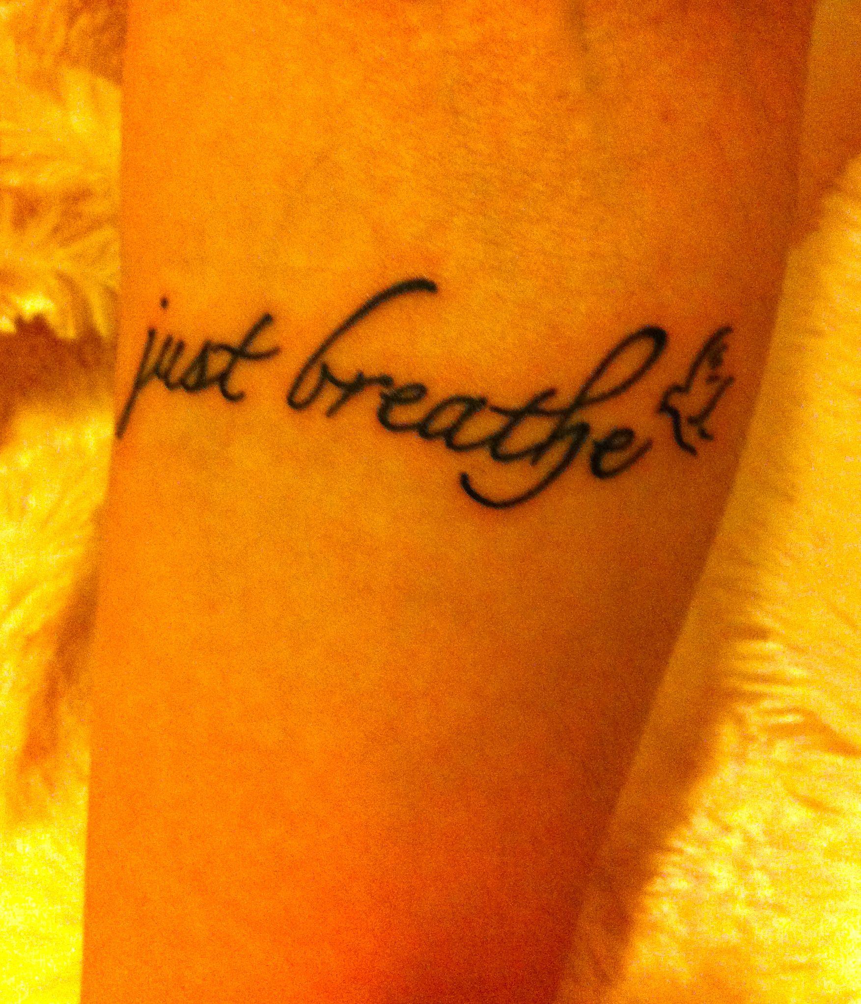 Just Breathe Tattoo Quarter Rest Instead Of The Bird