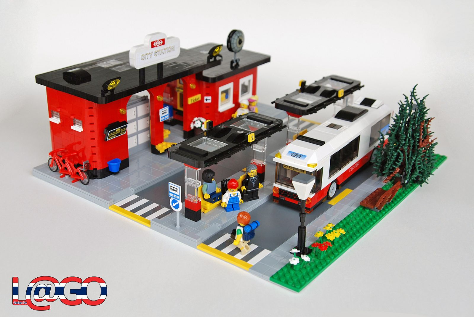 City Station 1 Lego Building Lego Lego Modular Lego House