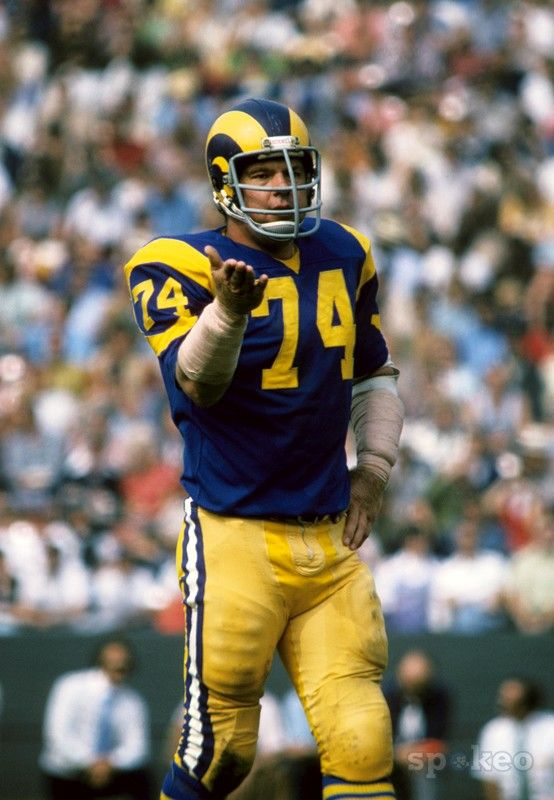Merlin Olsen Photo Galleries Rams Football American Football Team Nfl Football Players