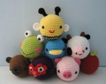 Amigurumi Animal Toys for Baby Crochet Pattern Set Digital Download
