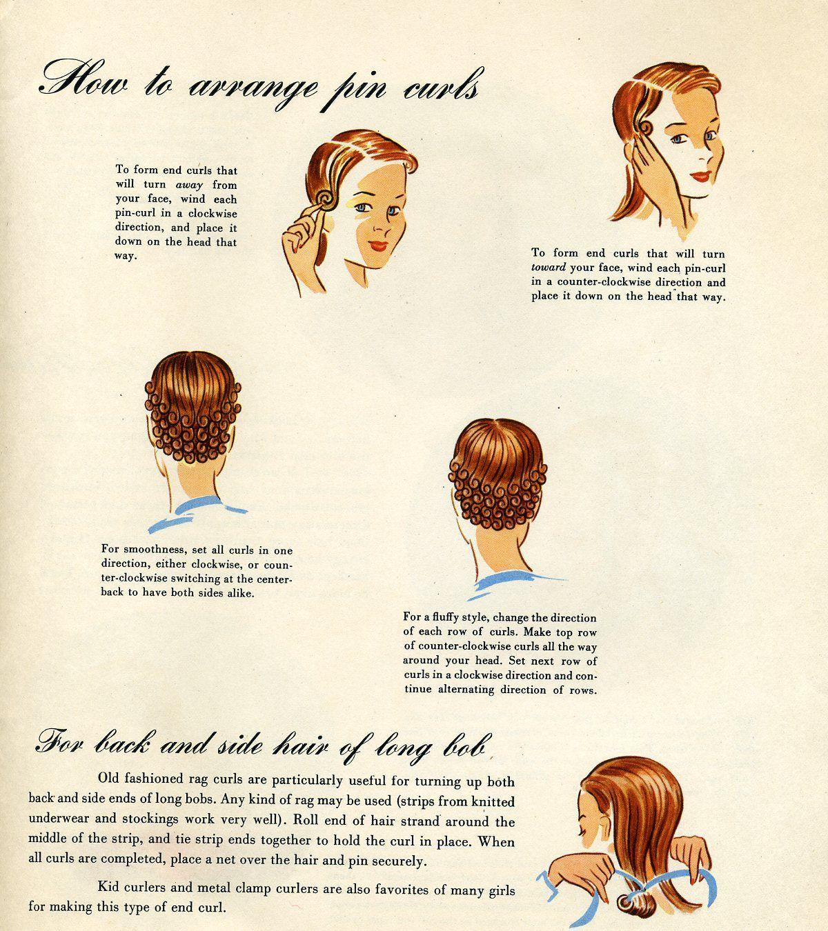 pin curl diagram schneider contactor wiring www topsimages com vintage set overnight hair jpg 1200x1350