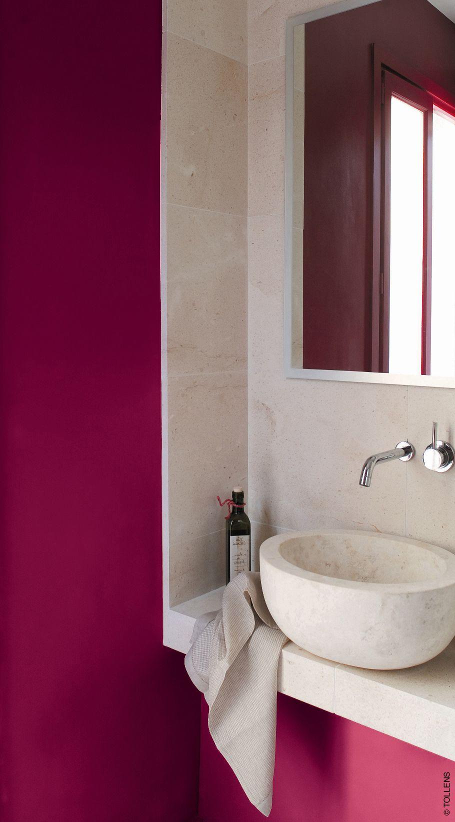 mur peinture rouge griotte by tollens et vasque et dalle. Black Bedroom Furniture Sets. Home Design Ideas