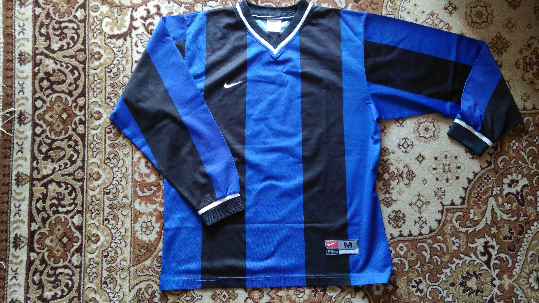 Nike Jersey Medium Soccer Shirt 90s Jerseys Balck And Blue Striped Jersey Football Club Jersey Rare Jersey Soccer Shirts Nike Jersey Long Sleeve Jersey