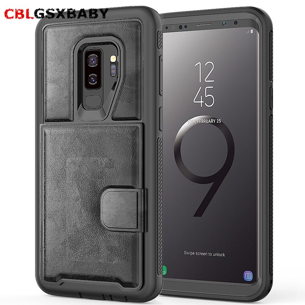 2018 NEW CBL PC+TPU+PU Leather Case for Samsung S10 Plus S10 Note9 multi card holders case for Samsung S9 Plus phone case cover – Linh's Corner