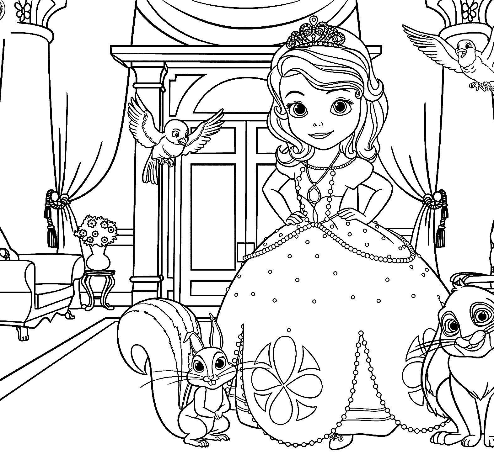 Princesa Sofia Para Colorir Imprimir Princesa Sofia Para