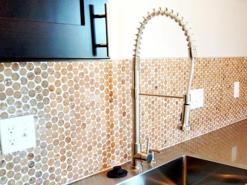 1 Cork Mosaic Tile For Floors Walls Bathroom Kitchen Etsy In 2020 Round Tiles Cork Flooring Penny Round Tiles