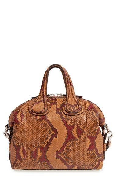 12b3cee262f494 Givenchy 'Small Nightingale' Genuine Python Satchel available at #Nordstrom