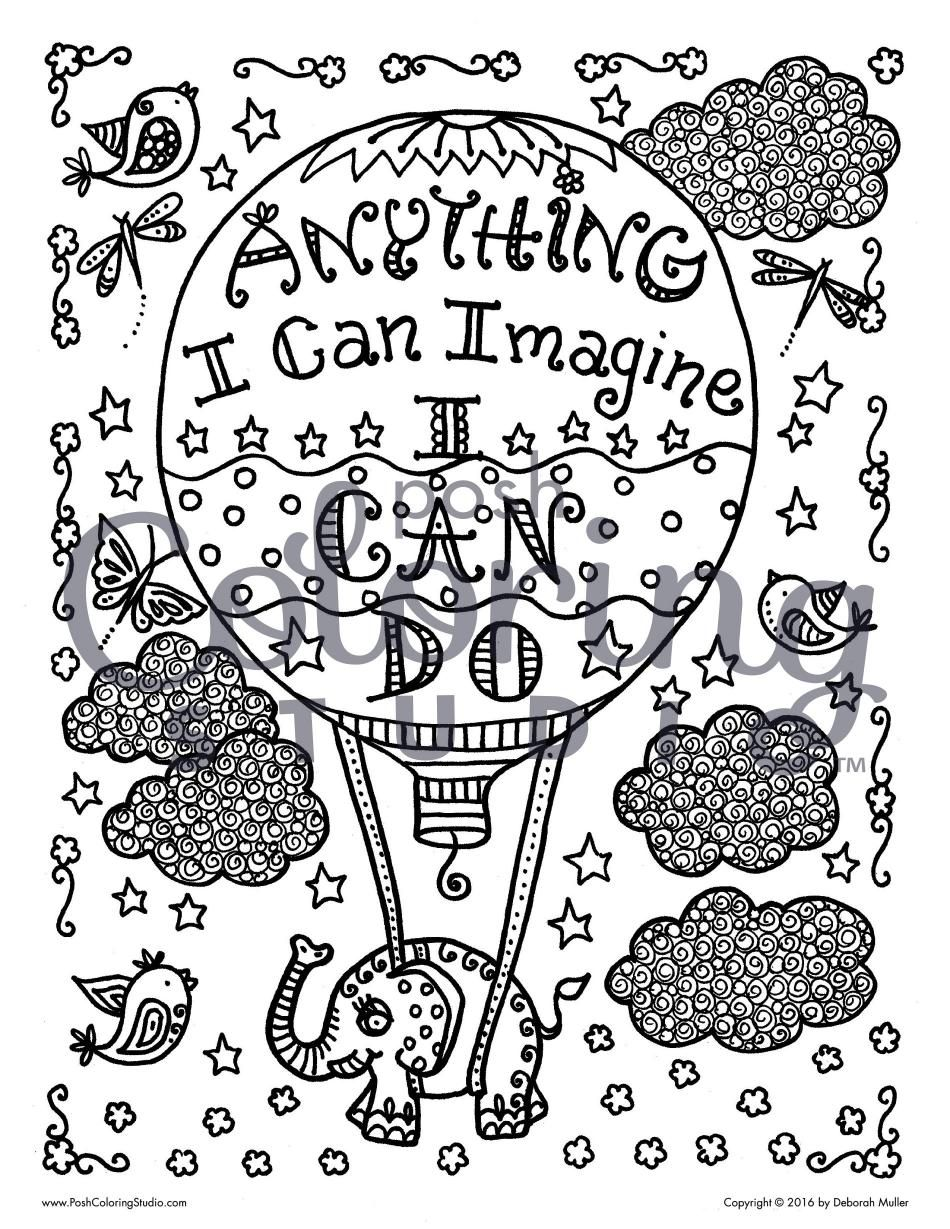Posh Coloring Book Inspirational Quotes