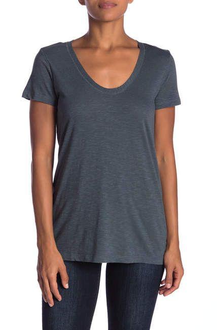 5b25e3734b19 Susina Scoop Neck Slub T-Shirt (Regular & Petite) in 2019   Products ...