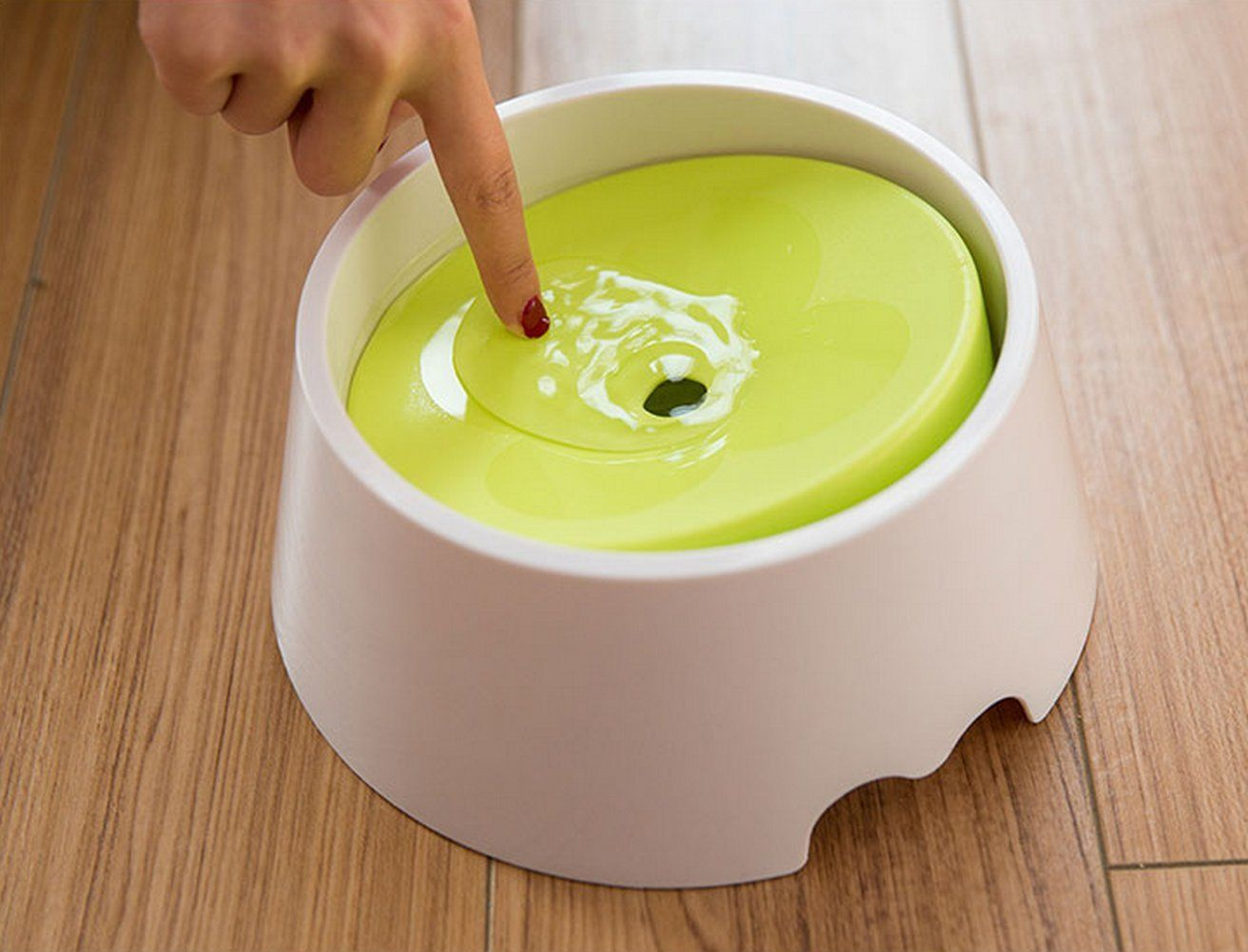 Petvins Dog Water Bowl Pet Slow Feeder 2 in 1 Spill Proof