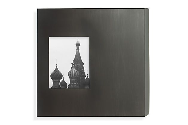 Manhattan Box Frames in Natural Steel | Box picture frames ...