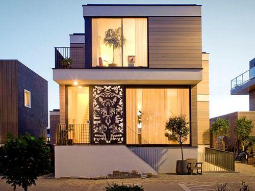 Desain Rumah Berbentuk Kotak Minimalis Modern