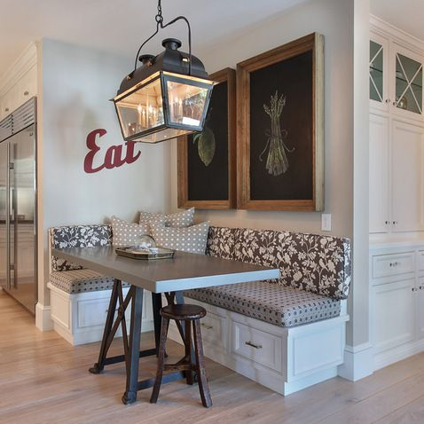 15 Framed Chalkboards Customizable And Also Functional Accent Details Kitchen Corner Booth Kitchen Seating Dining Nook