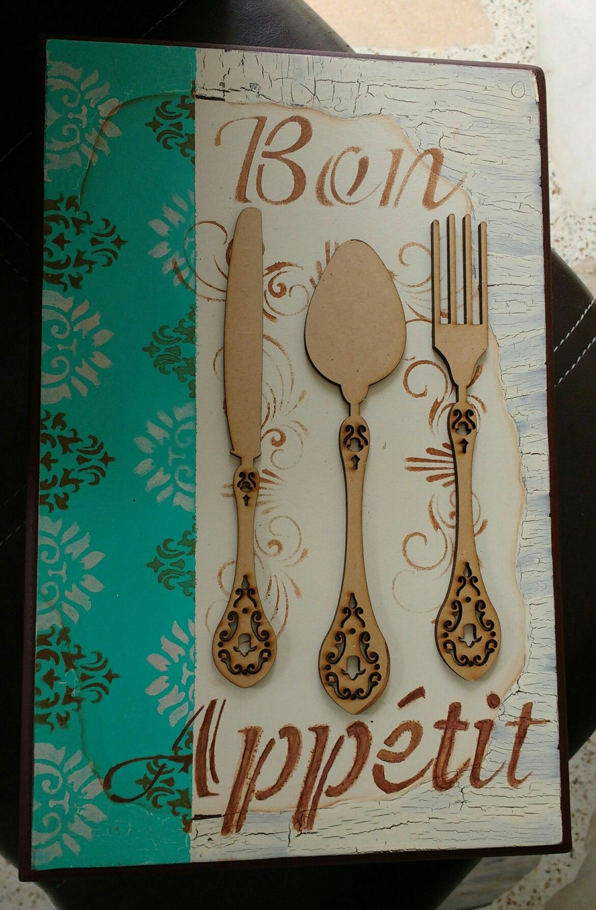 Cubiertero letras pinterest cuadro cajas y madera - Cuadros cocina vintage ...