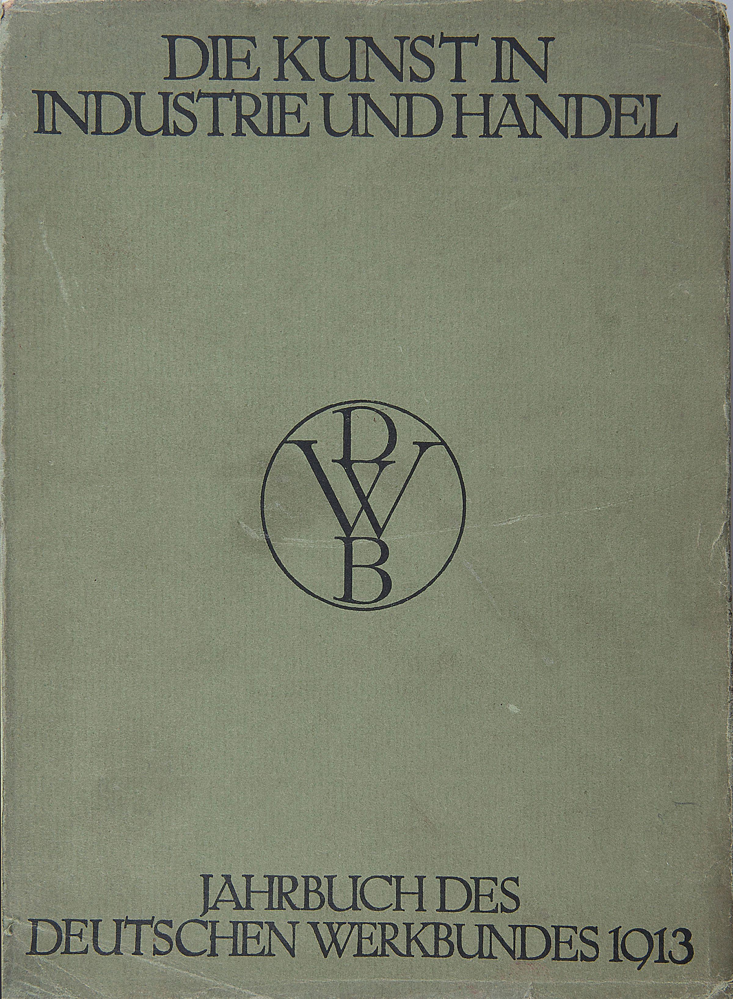 Dwb Deutscher Werkbund Yearbook 1913 Die Kunst In Industrie Und  # Werkbund Muebles