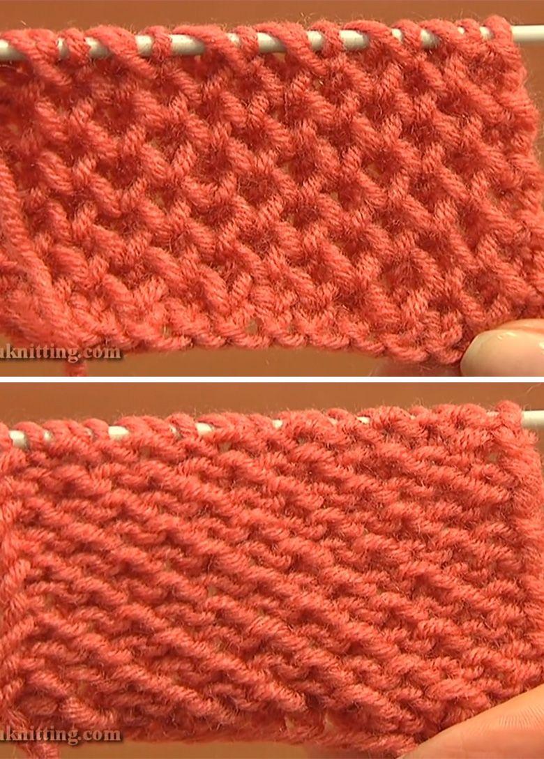Honeycomb Knitting Stitch Pattern Tutorial | Pinterest | Knitting ...