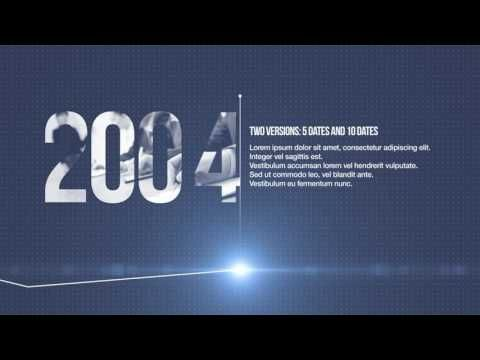 Minimal Corporate Timeline Top After Effects Templates Corporate
