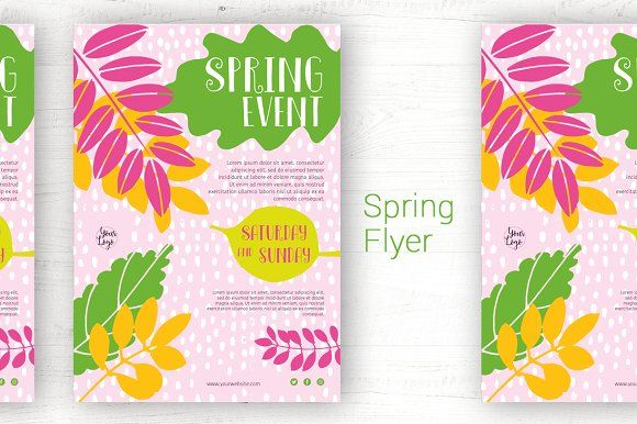 Modern Spring flyer template Indesign templates, Template and