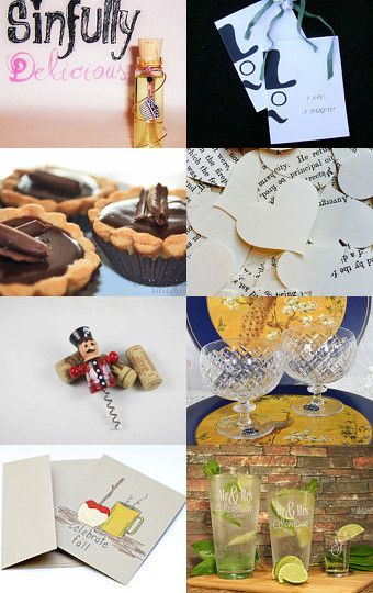 Celebrate Today! by Vikki Pike on Etsy--Pinned with TreasuryPin.com... my note cards in upper right!